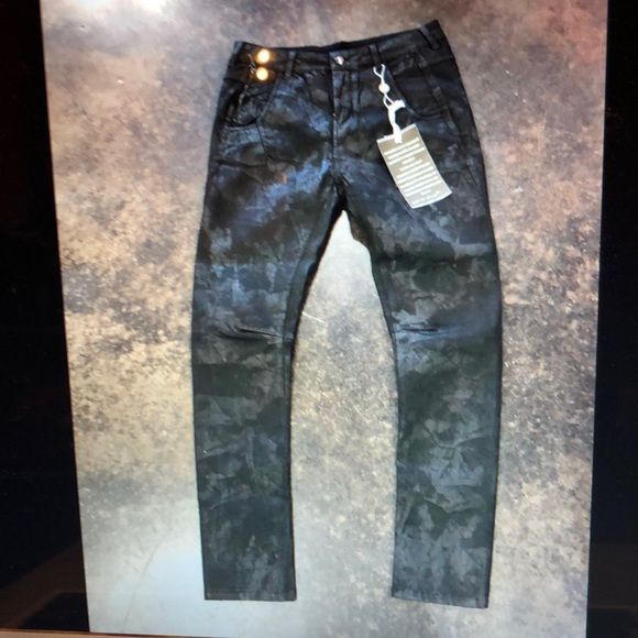 Manila Grace Denim - Manila Grace Black cool texture jeans 28